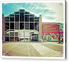 Acrylic Print featuring the photograph Boardwalk Casino - Asbury Park by Colleen Kammerer