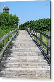 Boardwalk Acrylic Print by Colleen Kammerer
