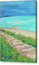 Boardwalk In Carmel Acrylic Print