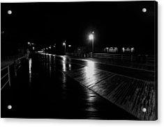 Boardwalk In The Still Of The Night Acrylic Print
