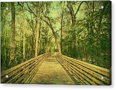 Acrylic Print featuring the photograph Boardwalk by Lewis Mann
