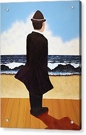 Boardwalk Man Acrylic Print
