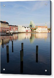 Boardwalk Morning Acrylic Print by Ron Dubin