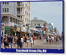 Boardwalk Ocean City Md Acrylic Print