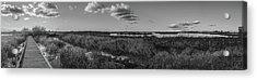 Boardwalk Panorama Monochrome Acrylic Print