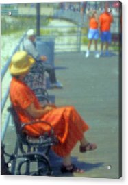Boardwalk Rest Acrylic Print