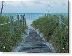 Acrylic Print featuring the photograph Boardwalk To The Beach by Kim Hojnacki