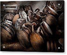Boat - Block And Tackle  Acrylic Print by Mike Savad