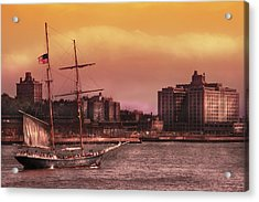 Boat - Ny - The Clipper  Acrylic Print by Mike Savad