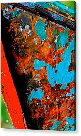 Boat Abstract Acrylic Print by Craig Perry-Ollila