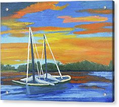 Boat Adrift Acrylic Print
