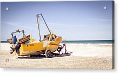 Acrylic Print featuring the photograph Boat And The Beach by Silvia Bruno