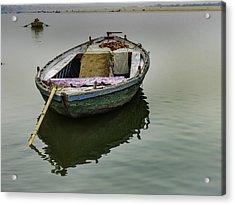 boat at Ganges Acrylic Print