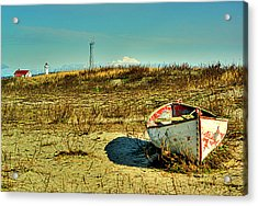 Boat At Point Wilson Acrylic Print by Dale Stillman