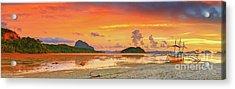 Boat At Sunset Acrylic Print by MotHaiBaPhoto Prints