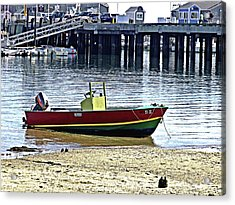 Boat At The Beach Provincetown Acrylic Print
