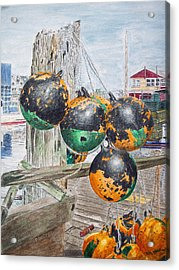 Boat Bumpers Acrylic Print