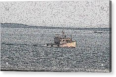 Boat City  Acrylic Print by Roger Charlebois