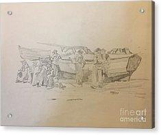 Boat Crew Acrylic Print
