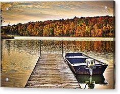 Boat Dock Le-aqua-na II Acrylic Print