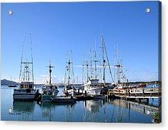 Boat Docks Of Morro Bay California Acrylic Print