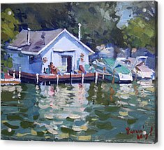 Boat House At Tonawanda Canal Acrylic Print