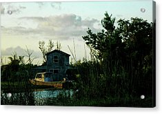 Boat House Acrylic Print by Cynthia Powell