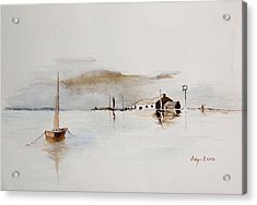 Boat House Acrylic Print by Sibby S
