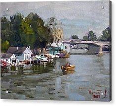 Boat Houses At North Tonawanda Acrylic Print