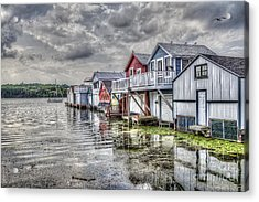 Boat Houses In The Finger Lakes Acrylic Print