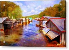 Boat Houses Acrylic Print