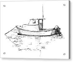 Boat In Casco Bay Acrylic Print