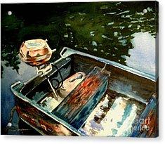 Boat In Fog 2 Acrylic Print