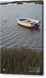 Boat In Ria Formosa - Faro Acrylic Print by Angelo DeVal