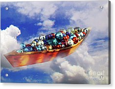 Boat In The Clouds Acrylic Print