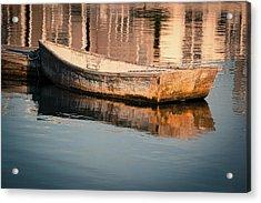 Boat In The Harbor Acrylic Print