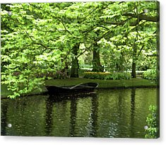 Acrylic Print featuring the photograph Boat On A Lake by Manuela Constantin