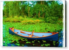 Boat On Bryant Pond Acrylic Print by Jonathan Galente