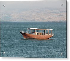 Boat On Sea Of Galilee Acrylic Print