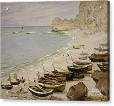Boat On The Beach At Etretat Acrylic Print by Celestial Images