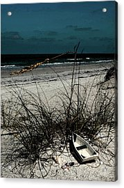 Boat On The Beach Acrylic Print