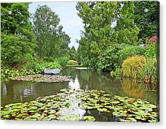 Acrylic Print featuring the photograph Boat On The Lake by Gill Billington