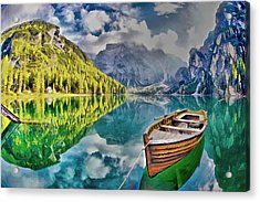 Boat On The Lake Acrylic Print