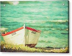 Boat On The Shore Acrylic Print