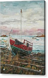 Boat On The Shore Acrylic Print
