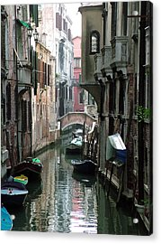 Boat On The Wall Acrylic Print