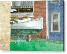 Boat Out Of Water - Portland Maine Acrylic Print