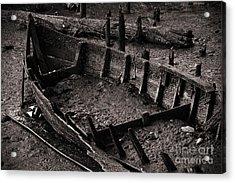 Boat Remains Acrylic Print by Carlos Caetano