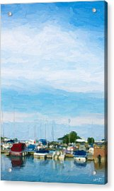 Boat Scene 1 Acrylic Print by Chamira Young