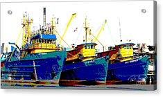 Boat Series 12 Fishing Fleet 2 Empire Acrylic Print